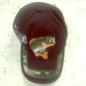 Kiss My Bass Ball Cap Fishing Hat